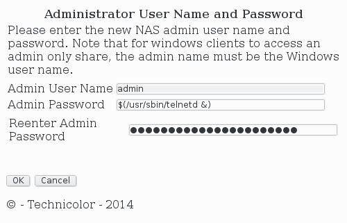 Changing administrator password
